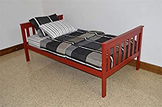 product image for DutchCrafters Amish Kids Twin Mission Bed (Paint - Tractor Red)