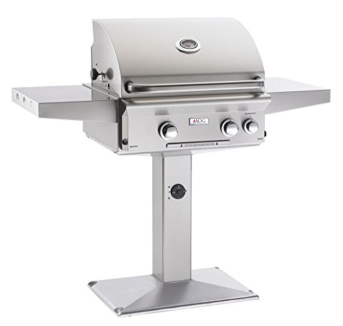 AOG American Outdoor Grill 24NPL-00SP L-Series 24 inch Natural Gas Grill On Pedestal - Pedestal Natural Gas Grills