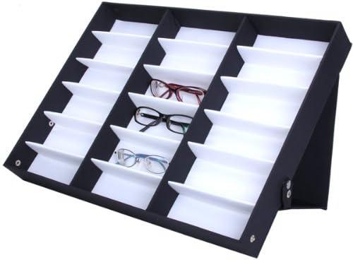 Expositor Caja Colección Guarda Gafas De Sol Vadeable 18 Pares Glasses Display: Amazon.es: Hogar