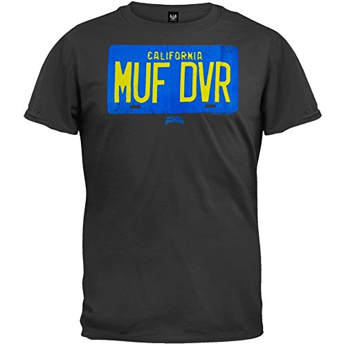 Cheech and Chong - Mens Muf Dvr License T-shirt X-Large Black OG Exclusive
