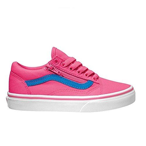 Vans - Zapatillas para niño rosa (Neon Canvas) Pink/Blue Pink-Blue
