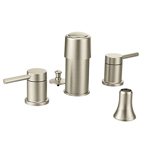 Moen T5191BN Align Two-Handle Bidet Faucet Trim Kit, Valve Required, Brushed Nickel