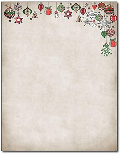 ヴィンテージオーナメント クリスマス ホリデー 文房具 - 80枚
