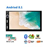 "UNITOPSCI Car Stereo Double Din Android 8.1 Car Radio with Bluetooth 7"" HD"