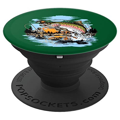 Rainbow Trout Fly Fishing PopSockets Grip and Stand for Phones and Tablets
