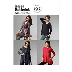 Butterick Patterns B5925 Misses' Top Sewing Template, Size Y (XSM-SML-MED)