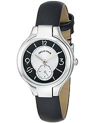 Philip Stein Womens 44-MBW-IB Round Analog Display Japanese Quartz Black Watch
