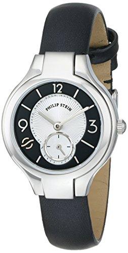 Philip Stein Women s 44-MBW-IB Round Analog Display Japanese Quartz Black Watch