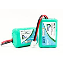 2x Pack - SportDog Field Trainer SD-400 Receiver Battery - Replacement for SportDog DC-17 Dog Training Collar Battery (150mAh, 4.8V, NI-MH)