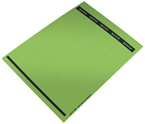 Leitz 16880055 Spine Label Self-Adhesive PC Paper Long Narrow Pack of 125 Green