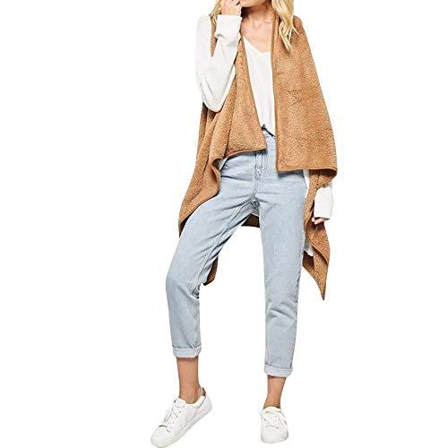 Kaki Hiver Cascade L Femme couleur Survêtements Parka Taille Cardigan Outwear Casual Veste Manteau Laine Zhrui Blouse xq8fnOTYfH