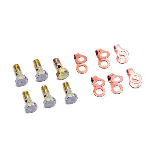Sets Banjo - 3905307 6 Set Fuel Return Line Banjo Bolt W/Seal for 89-98 Dodge 12V Cummin B5.9