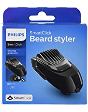 Philips SmartClick Beard Styling Accessory with 5 Length Settings, Comb & Precision Trimmer for Philips Men's Electric Shaver, RQ111/61