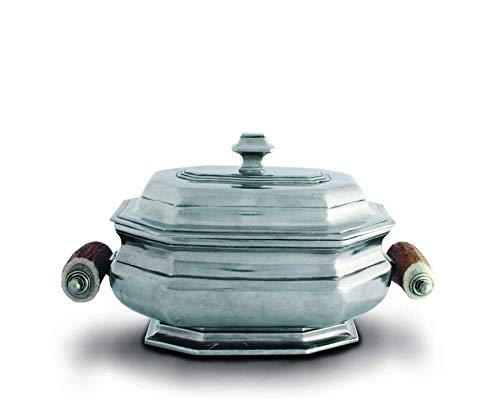 Vagabond House Old World Pewter Soup Tureen with Real Antler Handles 10