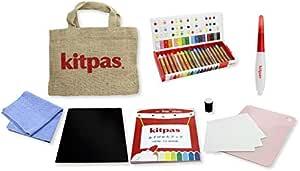 einen Wasserpinselstift und eine Anleitung zum Buch. enth/ält eine Packung mit 16 Buntstiften Kitpas KLTA-1 Little Artists Set