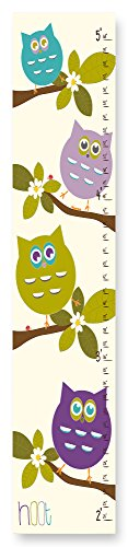 The Kids Room by Stupell Stupell Home Décor Cute Owls Whimsical Growth Chart, 7 x 0.5 x 39, Proudly Made in USA by The Kids Room by Stupell