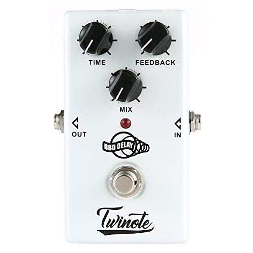 Guitar Effect Pedal, Volwco Analog Delay Guitar Effect Pedal Processor Warm Clear Tone 300ms Delay Time. Full Aluminium-alloy Shell With True Bypass For Guitar Accessories Classic BBD Analogue Circuit