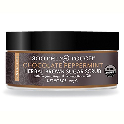 Soothing Touch Organic Scrub with Chocolate Peppermint Brown Sugar, 8 Ounce