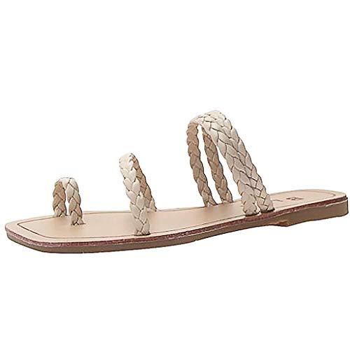 - ONLY TOP Women's flip Flops Sandals Arch Support Comfortable Walking Summer Water Beach Slipper Beige