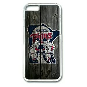 "iPhone 6 Plus Case,Minnesota Twins Wood Hard Shell Transparent Edges Case for iPhone 6 Plus(5.5"")"