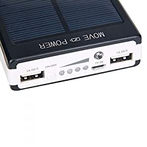 30000mAh Solar Power Bank Backup Battery Charger for GPS PDA Mobile Phone Rechargeable