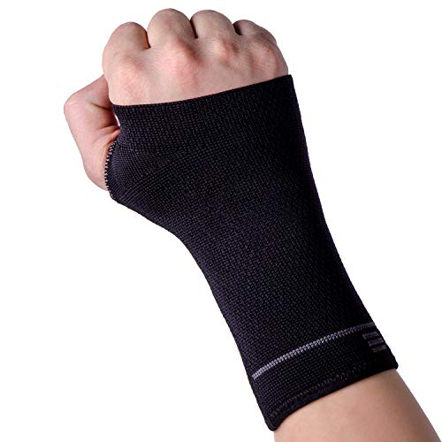 Compression Wrist Support Sleeve - Relieve Carpel Tunnel, Wrist Pain - Best Wrist Support - Improve Circulation and Support Wrist (Midnight Black - 1 Sleeve, - Sleeve Tunnel