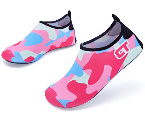 Giotto Vattensporter Skor Simma Yoga Strand Aqua Strumpor För Kvinnor Män Camo / Rosa