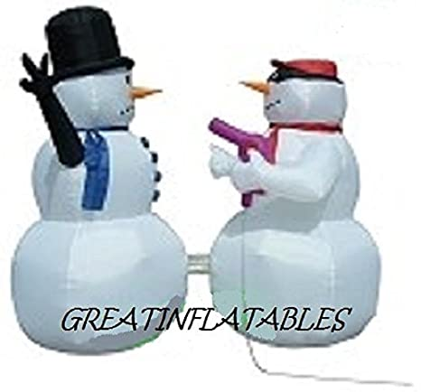 Navidad muñeco de nieve hinchable caprichoso stick-up escena ...