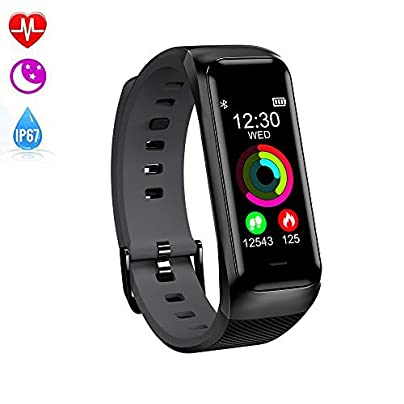 LOVOVR Fitness Tracker Waterproof IP67 Smart Watch With Blood Pressure Heart Rate Monitor Calorie Counter Pedometer Men Women Intelligent Motion Wristband Estimated Price £46.99 -