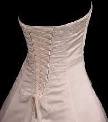 4490798bdc Amazon.com  Wedding Gown Zipper Replacement Adjustable Fit Corset Back Kit  Lace-Up Champagne Satin  Arts