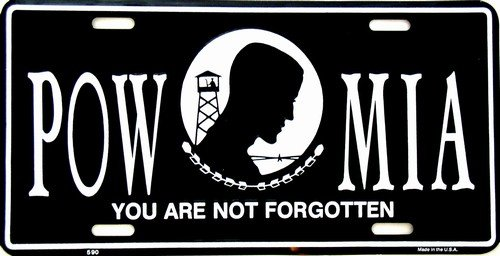 POW-MIA Novelty Vanity Metal License Plate Tag Sign