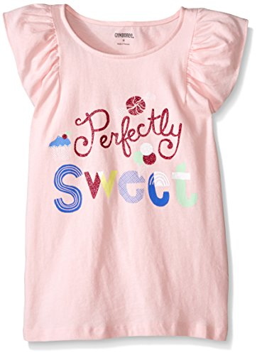 Gymboree Little Girls' Pink Pretty Sweet Graphic Tee, Almond Blossom, Small