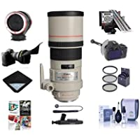 Canon EF 300mm f/4L IS USM IS AF Telephoto Lens USA - Bundle with 77mm Filter Kit, DSLR Follow Focus & Rack Focus, MkII Focus Calibration System, Peak Design Lens Changing Kit Adapter, More