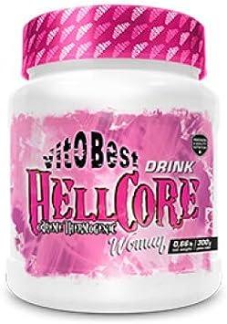 Quemagrasas HELLCORE - Producto de Calidad Optima y Quemagrasas Potente para Adelgazar - Vitobest (Uva, 300g Drink Woman Polvo)