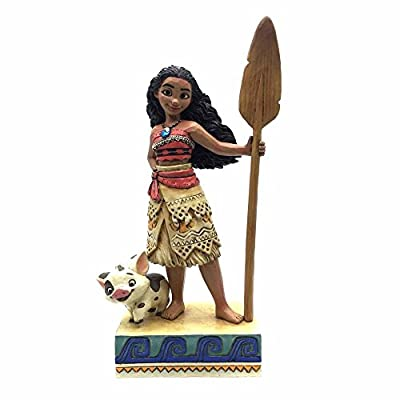 "Enesco 4056754 Disney Traditions by Jim Shore Moana Stone Resin Figurine, 7.56"", 7.56 Inches, Multicolor"