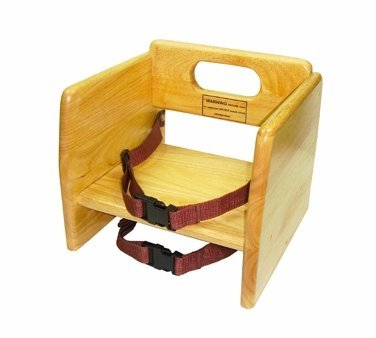 Winco Wooden Booster Seat, Natural