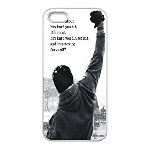For SamSung Galaxy S4 Mini Phone Case Cover Rocky Balboa Motivational Words Hard Shell Back White For SamSung Galaxy S4 Mini Phone Case Cover 336378