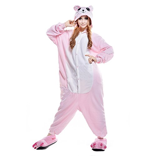 Adult Costume Pink Mouse Animal Onesies Pajamas XL (Plus Size Squirrel Costume)