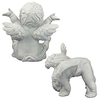 Design Toscano Tumbling Cherub Statue, Set of Topsy and Turvey : Garden & Outdoor
