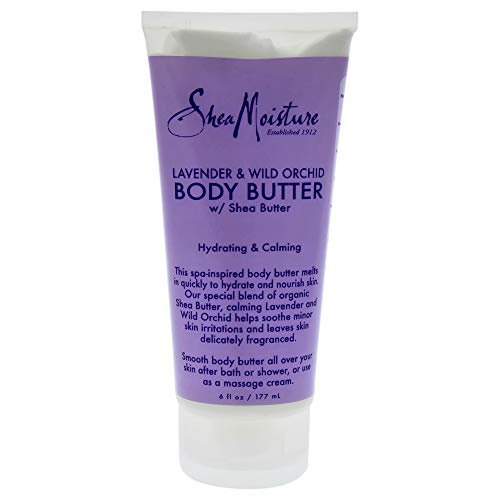 Orchid Shea Butter Hand Cream - SheaMoisture Lavender & Wild Orchid Body Butter, 6 Ounce