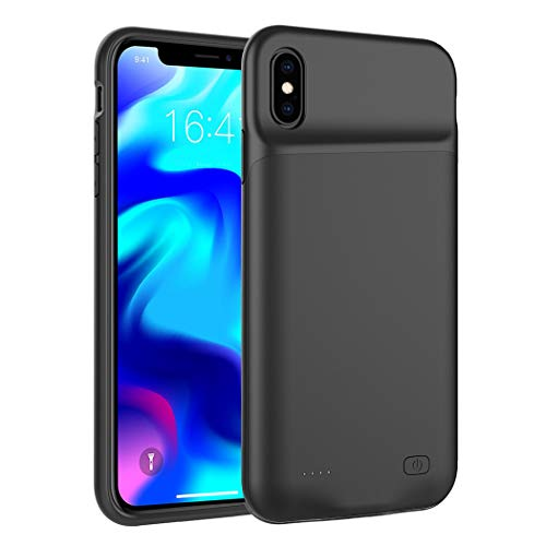 iPhone XS Max Battery Case, SNSOU 6500mAh Ultra Slim Extended Rechargeable Charger Case External Battery Pack Portable Power Bank Protective Charging Case for iPhone XS Max (6.5 inch) (Black)