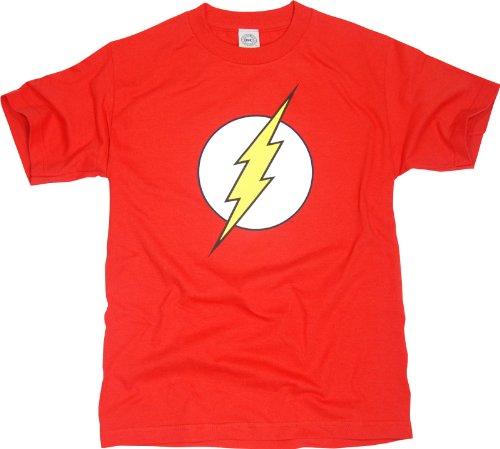 DC Comics Flash Logo Mens Red T-shirt
