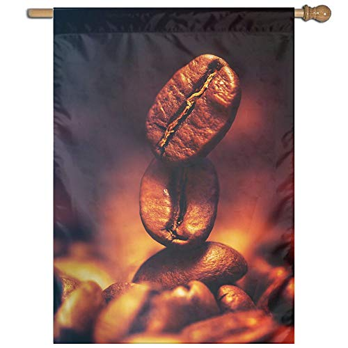 YUANSHAN Single Print Home Garden Flag Coffee Bean-2560x2560 Polyester Indoor/Outdoor Wall Banners Decorative Flag -