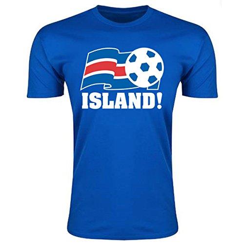 Iceland Football Federation T-Shirt (Blue) B01HUQEXN6Blue XXL (50-52\