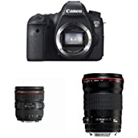 Canon EOS 6D Digital SLR Camera w EF 24-70mm F4L IS and  EF 135mm F2L Lens Bundle
