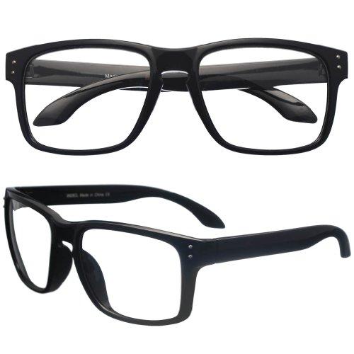 Amazon.com: BIRCH\'s Retro Hipster Clear Lens Eyeglasses Nerd Glasses ...