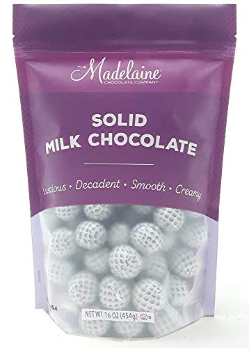 Madelaine Solid Milk Chocolate Golf Balls Wrapped In