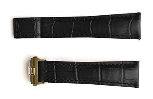 20mm Black watch Band Strap w/Clasp replacement TAG Heuer by EZwatchshop (Image #2)