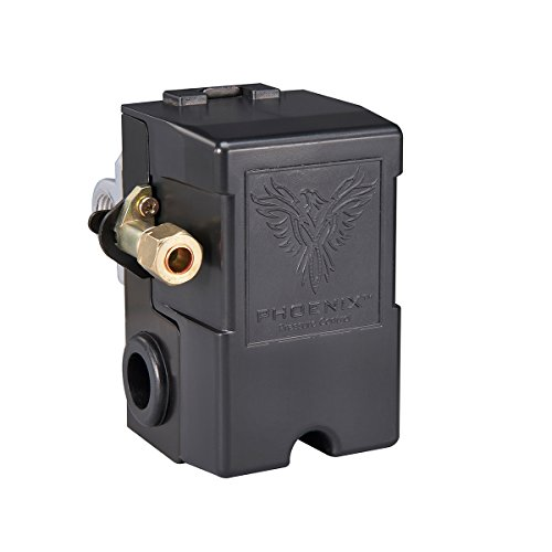 Phoenix 69MB7LY2C 95/125 PSI 4-Port Air Compressor Switch w/ Unloader Valve & Auto/Off (Furnas type)