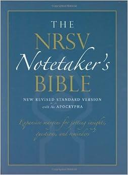 Book The NRSV Notetaker's Bible 9850A